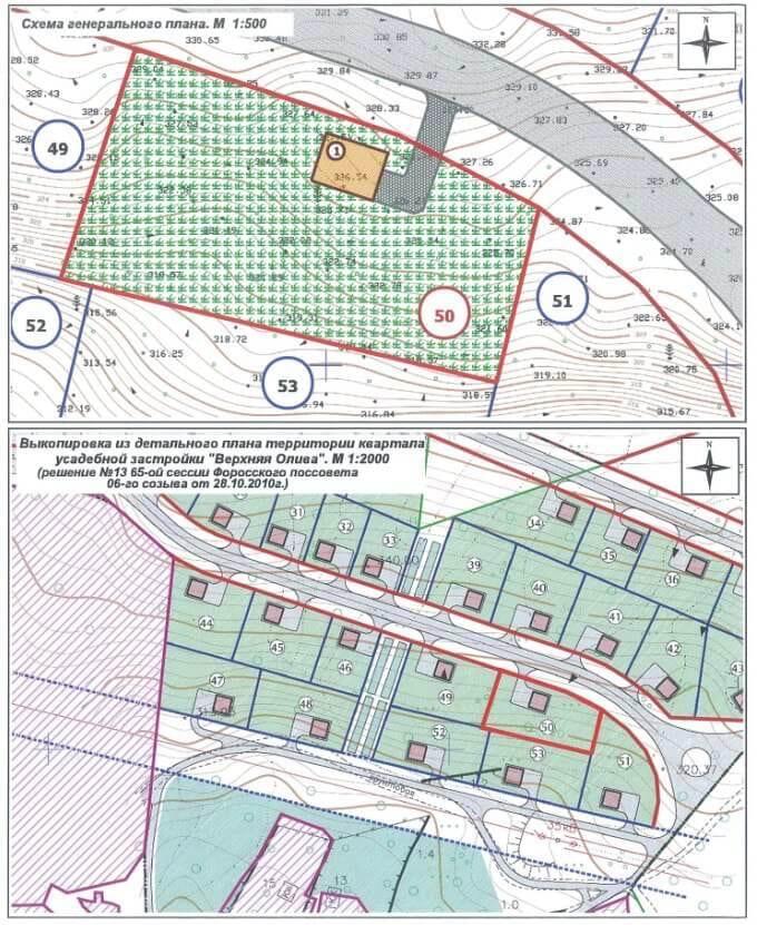Выкопировка из детального плана территории квартала